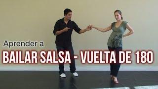 Aprende a bailar salsa. La vuelta 180