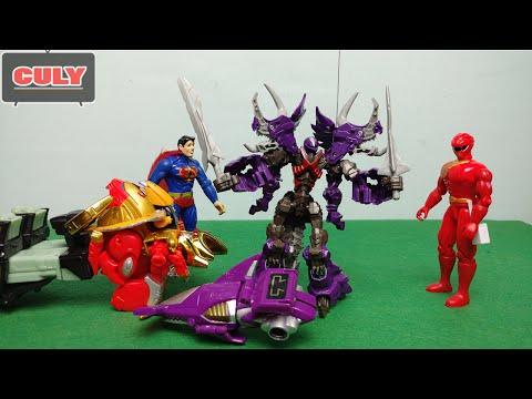 Siêu nhân chế 3 - Gao King đánh tam giác long Dinobot của superman toy story for kid