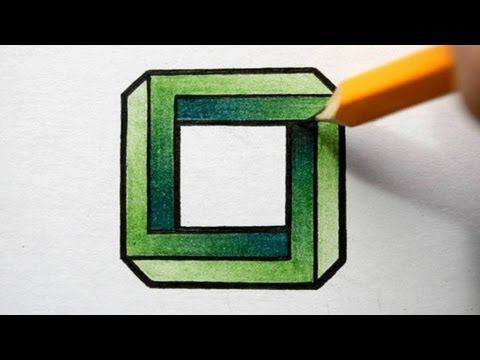 How to Draw an Impossible Square - Optical Illusion