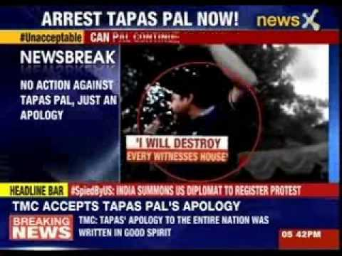 TMC accepts Tapas Pal's apology