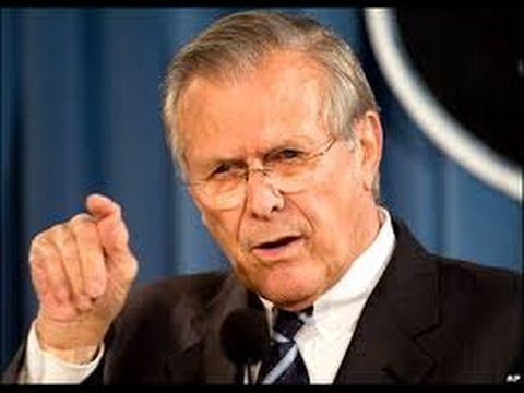 Rumsfeld Caught In Most Obvious Lie Ever