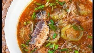 Sardines with Misua and Patola by Panlasangpinoy.com