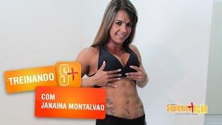 Treino de abdomen com Janaina Montalvão