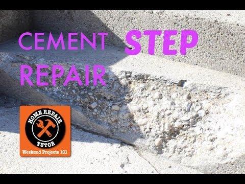 Cement Step Repair in One Day -- by Home Repair Tutor ...