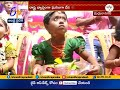 Dussehra Fest | Devotees Take Blessings From Kids | Vijayawada