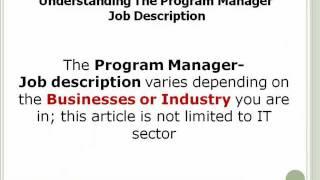 program manager job description