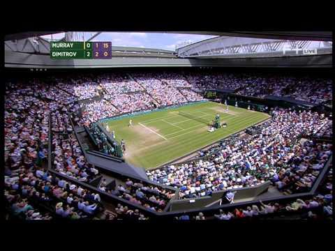 Grigor Dimitrov vs Andy Murray Wimbledon 2014 Quarter-final Part 2