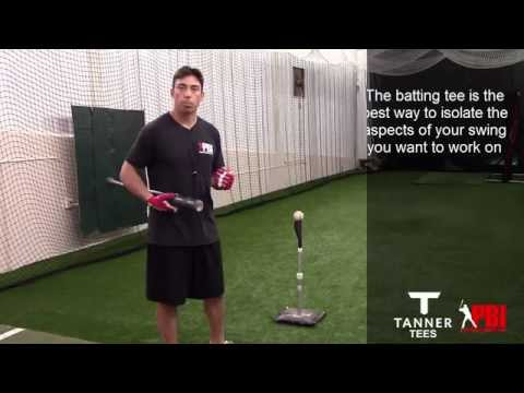 Baseball batting tee drills - Pre-game warm up, Part 1 Cont.
