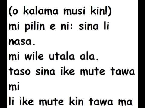 pakala - kalama musi 'When I'm Gone' - Environmentalist version in toki pona