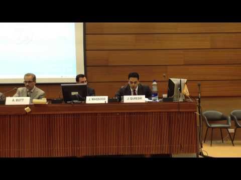 Junaid Qureshi (JKDLP) at 25th Session of United Nations Human Rights Council, Geneva