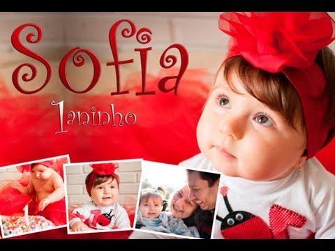 Retrospectiva Animada Infantil de aniversário 1 aninho - Sofia