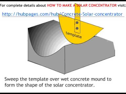 How to make a parabolic solar cooker -LmmwxADErTg