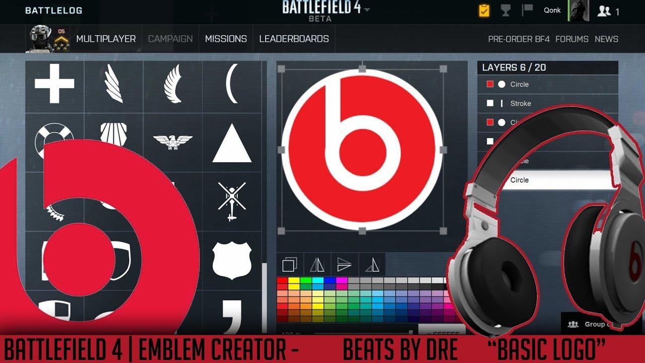 bf4 emblems creator beats by dre quot basic logo quot qonkey youtube