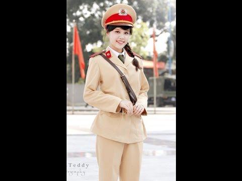 Hot girl Học viện Cảnh sát nhân dân trong trang phục CSGT