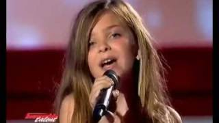 The little girl sings like a pro