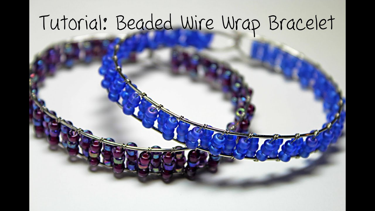 Tutorial beaded wire wrap bracelet youtube for Step by step wire jewelry subscription