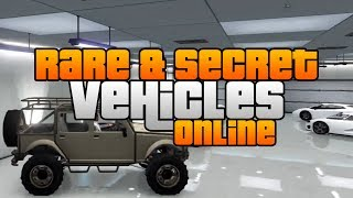 GTA 5 Rare & Secret Vehicles Online! Rare & Secret