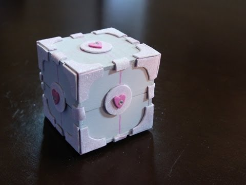 Weighted Companion Cube Box -DIY GG