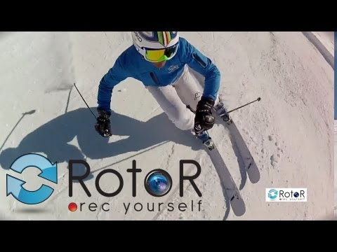 RotoR Helmet Swivel Mount GoPro Official Ski Footage - GoPro Nilox Rotormount Film Yourself 360˚ POV