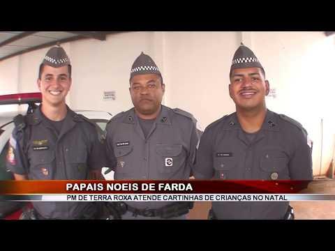 24/12/2018 - Polícia Militar de Terra Roxa atende cartinhas de crianças no Natal