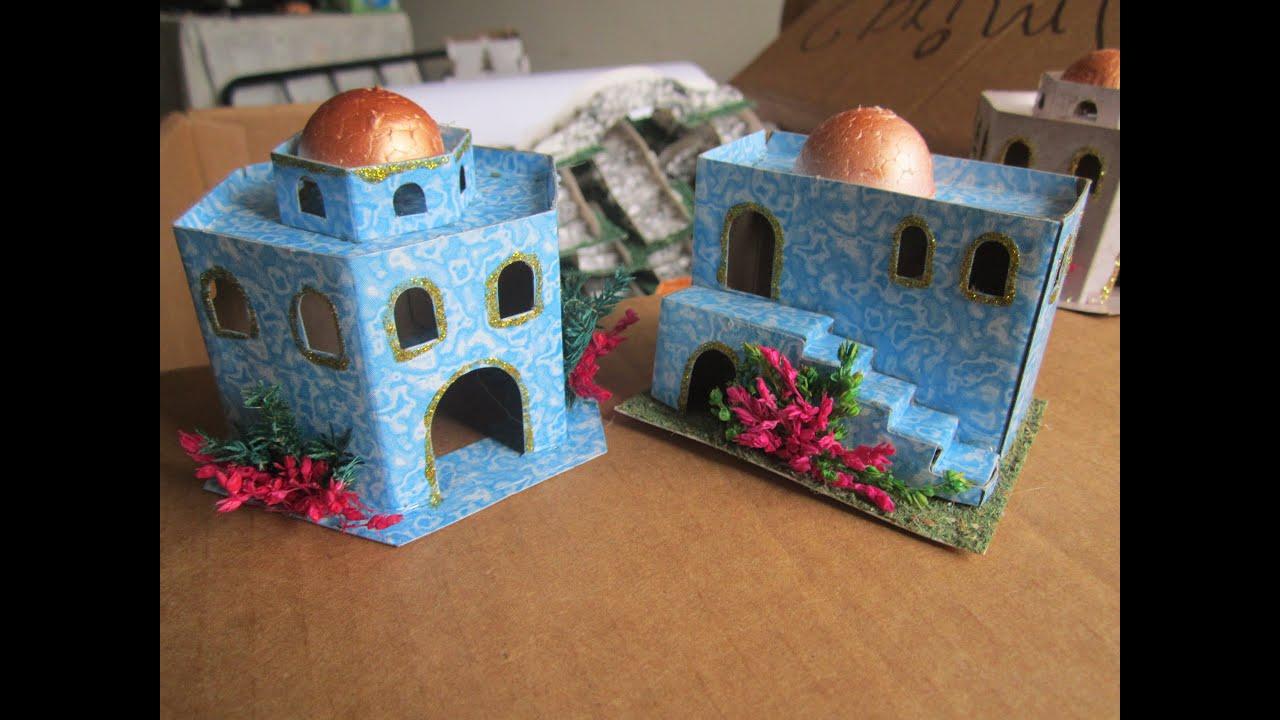 Casitas para pesebre carton youtube - Casas para belenes hechas a mano ...