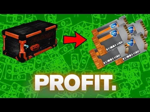 *NEW* HOW TO PROFIT (Free Keys) FROM THE NEW HALLOWEEN CRATE ON ROCKET LEAGUE!! (Trading Tips)