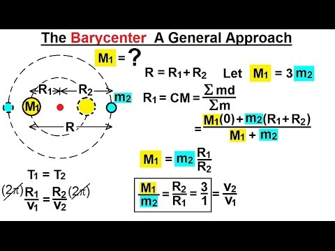 Astrophysics: Binary Star System  (8 of 40) The Barycenter: A General Approach