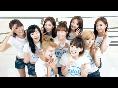 SNSD sings Intel's jingle