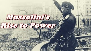 mussolini s increase in power Start studying authoritarianism, fascism, and dictators learn vocabulary how did benito mussolini attempt to increase italy's power by seizing control of new land.