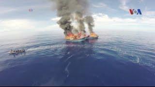 Việt Nam im tiếng về vụ Palau đốt tàu đánh cá
