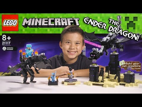 LEGO MINECRAFT - Set 21117 THE ENDER DRAGON - Unboxing, Review, Time-Lapse Build