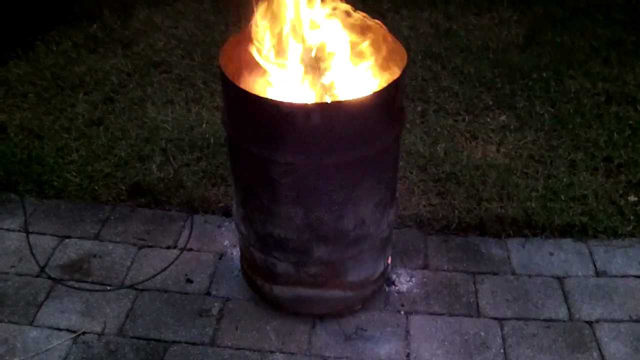 30 Gallon Fire Barrel Pit Better Than Chiminea Youtube