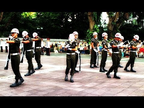 Changing of Guards Ceremony, The Istana, Singapore