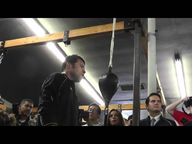 canelo alvarez vs perro angulo canelo on double end bag EsNews Boxing