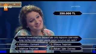 Kim Milyoner Olmak Ister 214. bölüm Beril Yalçınkaya 04.05.2013 devamı