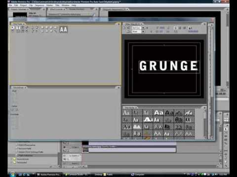 Creating grunge text effect using adobe premiere pro