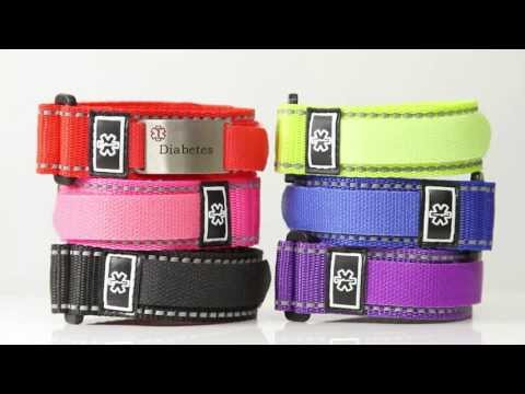 Velcro Sport Strap Medical ID Bracelets from StickyJ