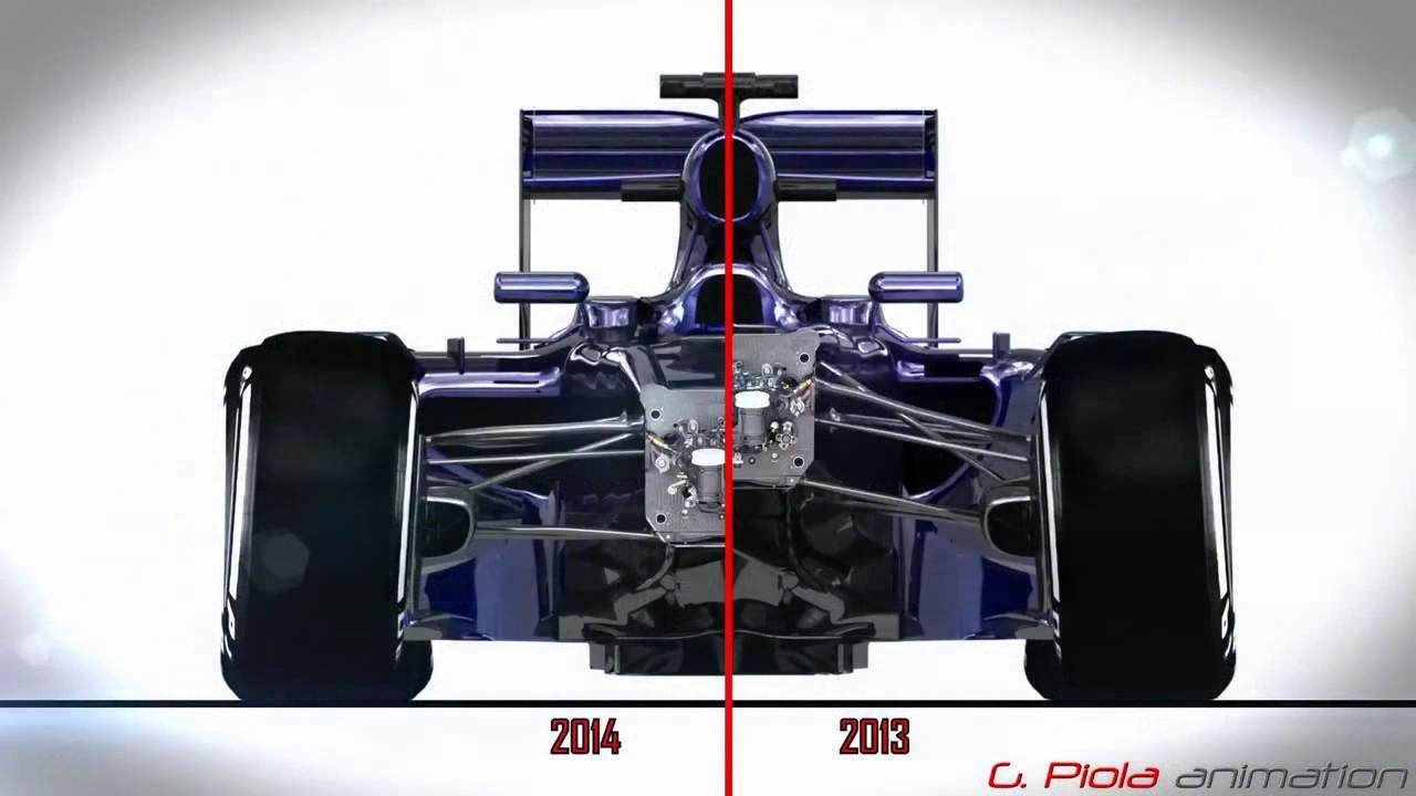 F1 2013 / 2014 3D Comparison