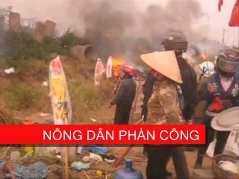 Dương Nội Nông dân đẩy lui trận càn cướp đất của mấy trăm CA  31/1/2013.wmv