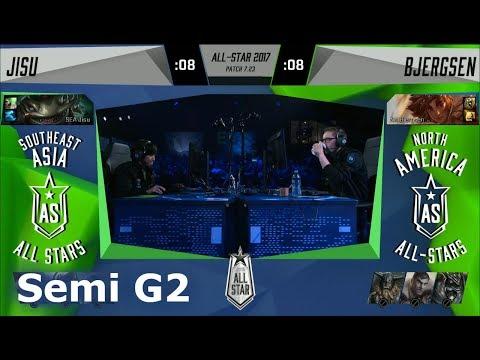 Bjergsen Taliyah vs Jisu Tahm Kench | Game 2 Semi Final 1v1 All-Stars 2017 | NA vs SEA G2