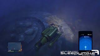 GTA: V Crashed Deep Sea UFO Easter Egg + Glitch Inside