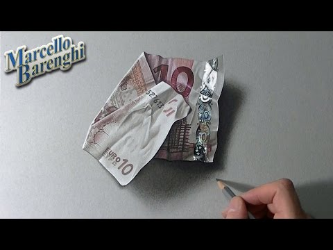 How I draw a folded ten euro note