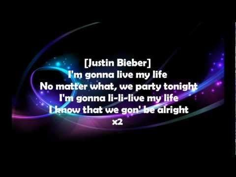Live My Life by Far East Movement feat. Justin Bieber [Lyrics on Screen REAL HD QUALITY]