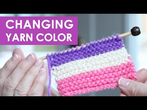 How to Change Yarn Colors While Knitting