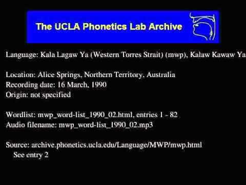 Kala Lagaw Ya audio: mwp_word-list_1990_02