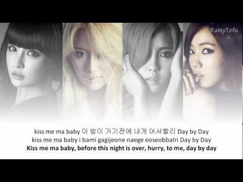 T-ara - day by day ~ lyrics on screen (KOR/ROM/ENG)