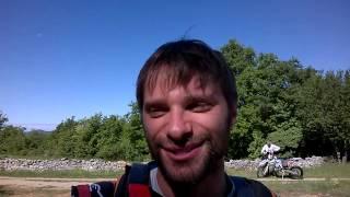 Nicola Tonetti al via della seconda tappa del Croatia Rally
