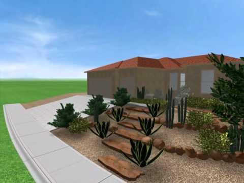Front yard landscape design las vegas youtube for Garden design las vegas