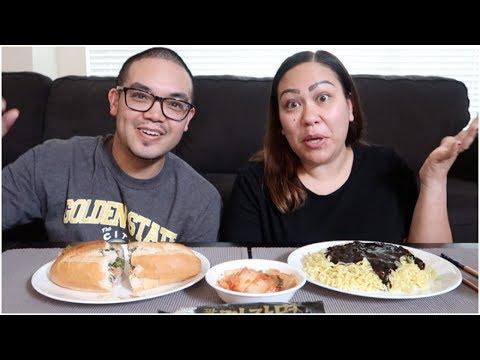 BLACK BEAN NOODLES + BANH MI | EAT WITH US