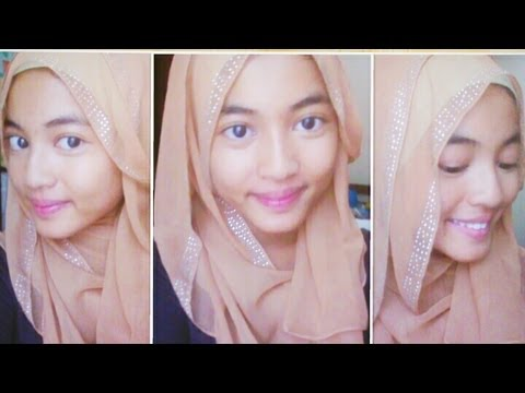 Easy fancy hijab tutorial. Pinned up side style